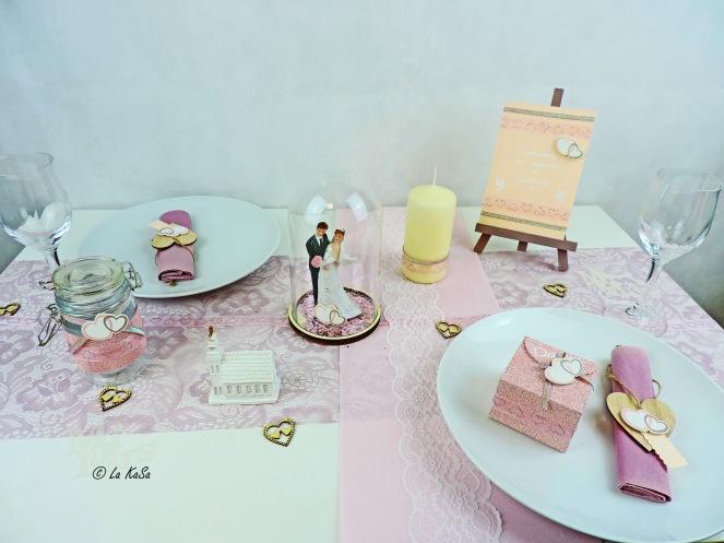 Hochzeitstisch rosa